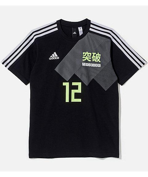 <アディダス/adidas> x<ネイバーフッド>▼勝色 Tシャツ(DW6668) ブラック 【三越・伊勢丹/公式】