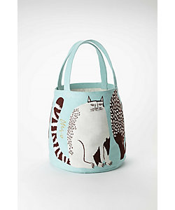 morita MiW/モリタミウ トートバッグ『公園の大きな樹のネコたち』ネコ/ライトブルー
