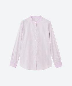 NEWYORKER L(Women/大きいサイズ)/ニューヨーカーL ドビーストライプバンドカラーシャツ