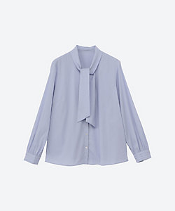 NEWYORKER L(Women/大きいサイズ)/ニューヨーカーL シルキーブロードボウタイデザインシャツ