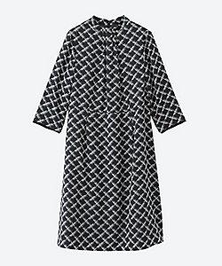 NEWYORKER L(Women/大きいサイズ)/ニューヨーカーL ジオメトリックプリント七分袖ワンピース