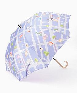 銀座三越限定 銀座MAP風 長雨傘(21-160-10263-1)