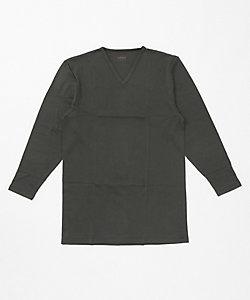 SEEK(Men)/シーク 冬用/綿100%/発熱素材/Vネックロングシャツ