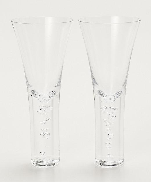 <Sghr(Living & Art)/スガハラ> 三種の泡 シャンパン・カクテルグラスペア【三越伊勢丹/公式】