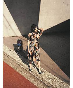 INED(Women)/イネド リバティ ぼかしフラワー ワンピース