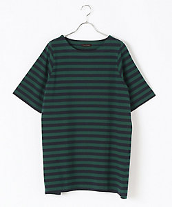 green nout(Women/大きいサイズ)/グリーンノート ボーダーチュニックカットソー