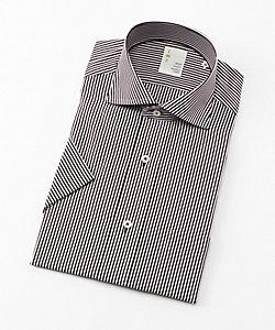 IMZ(Men)/イムズ 形態安定/半袖ストライプシャツ(ZMN513‐315)