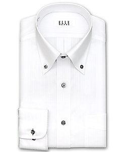 ELLE(Men)/エル ボタンダウン 長袖白ドビーシャツ