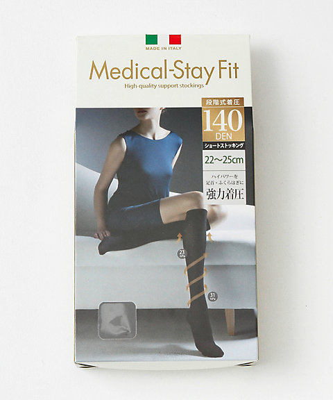 <ステイフィット/メディカル ステイフィット/Medical-Stay Fit> 「メディカル ステイフィット」着圧ショートストッキング 140デニー..