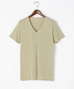 SEEK(Men)/シーク VネックTシャツ ホールガーメント 綿100%