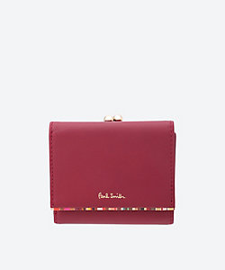 Paul Smith (Bag&SLG)/ポール・スミス PWクロスオーバーストライプトリム 口金付き三ツ折り財布