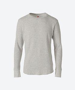 Hanes(Men)/ヘインズ サーマル素材 ロングスリーブTシャツ