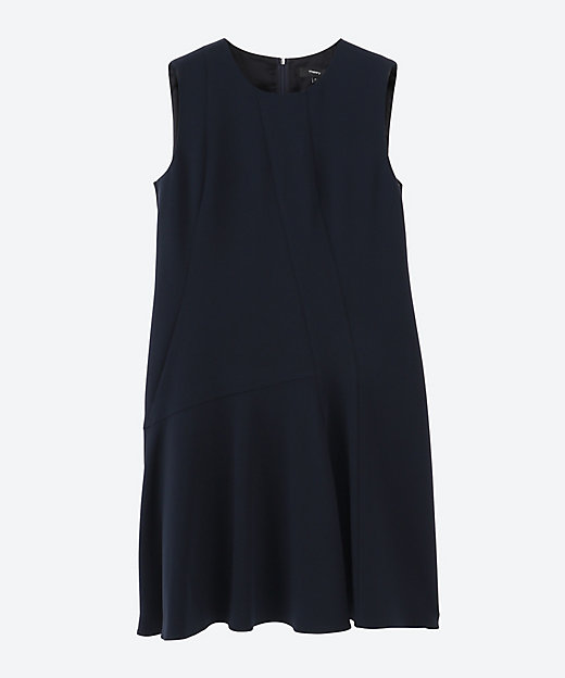 <Theory(Women)/セオリー> 大きいサイズ CLASSIC CREPE ASYM DRAPE dark blue(895)【三越伊勢丹/公式】