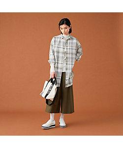 L'EQUIPE(Women)/レキップ エアリーチェックロングシャツ