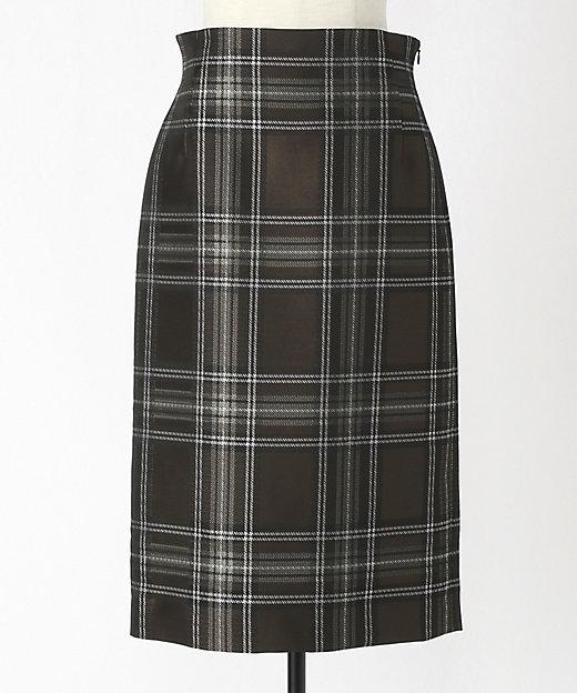 ポリエステルチェックタイトスカート
