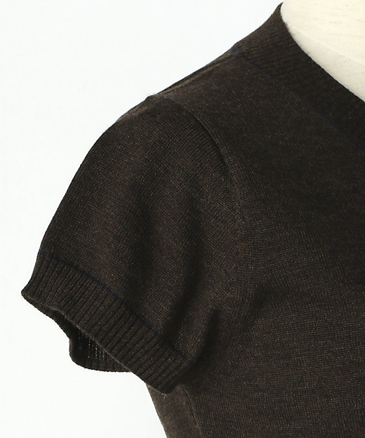 ウール梳毛アーガイル柄セーター