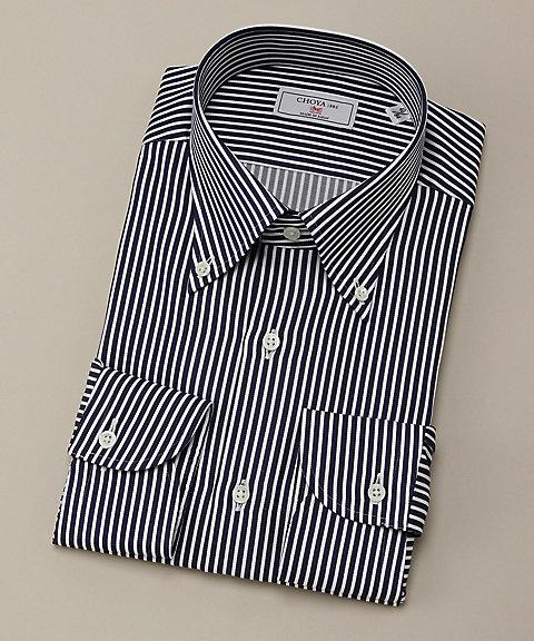 長袖ワイシャツ(CVD702-455) 455ネービー