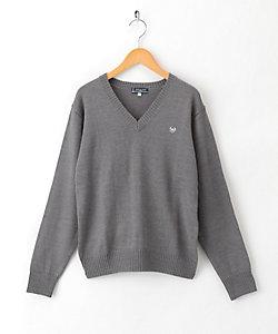 OLIVE DES OLIVE/オリーブ・デ・オリーブ クラウン刺繍ウール混8Gセーター 2K90004