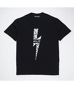 Neil Barrett(Men)/ニール バレット グラフィティサンダーボルトマルチヤーンTシャツ PBJT693S N541S