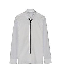 Neil Barrett(Men)/ニール バレット ストレッチポプリンプリントシャツ PBCM1434C-P007S