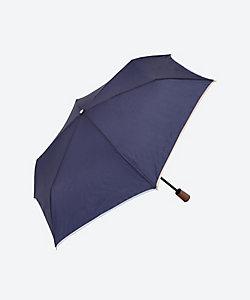 ★京都<シノワズリーモダン>撥水&軽量 パイピングスリム 折りたたみ雨傘