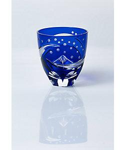 清水硝子/シミズガラス 和樂×清水硝子 グラス「北斎BLUE」