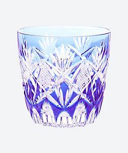 清水硝子/シミズガラス クリスタルロックグラス ルリ 重ね矢来