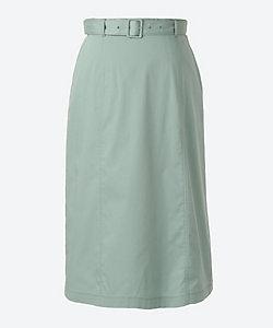 NEWYORKER L(Women/大きいサイズ)/ニューヨーカーL マットオックス ウエストゴムロングスカート