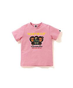 BAPE KIDS(Baby&Kids)/ベイプキッズ 002TEH223602X ISETAN CHECK MILO & LISA TEE