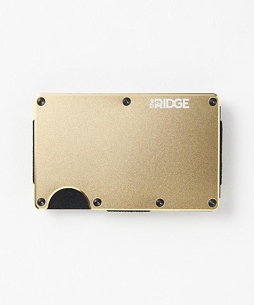 <the RIDGE(Men)/ザ リッジ> アルミニウムカードケース(マネークリップ付)(TRA18) Gold【三越伊勢丹/公式】