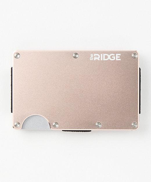 <the RIDGE(Men)/ザ リッジ> アルミニウムカードケース/マネークリップ付(TRA20) Rosegold【三越伊勢丹/公式】