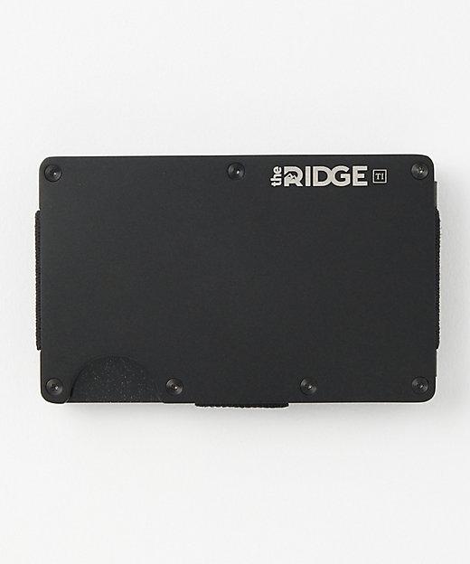 <the RIDGE(Men)/ザ リッジ> チタンカードケース/マネークリップ付(TRT03) Black【三越伊勢丹/公式】
