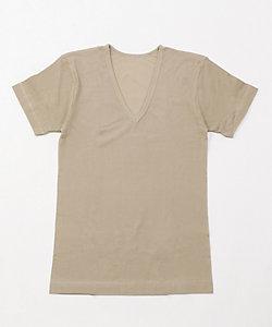 夏用素材/半袖V首シャツ(0078-37)