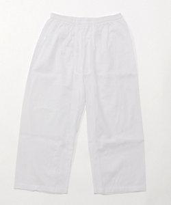 夏用素材/クレープ素材ロングパンツ(1105-50)/前開き