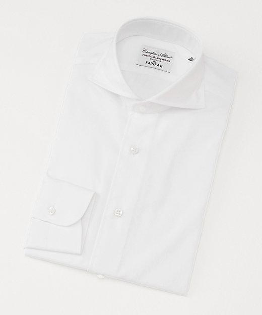 <FAIRFAX(Men)/フェアファクス> カッタウェイカラー/ツイル生地/長袖ドレスシャツ(03002CW) ホワイト【三越伊勢丹/公式】
