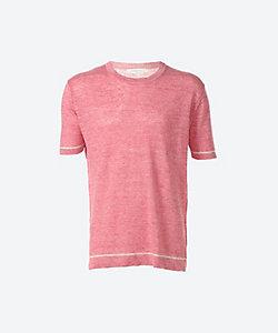 麻クルーネックTシャツ