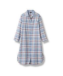 レディースパジャマ ルーシープラッド スリープドレス ブルー