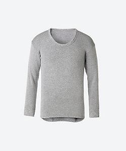 快適工房(Men)/カイテキコウボウ ウール混素材 長袖U首シャツ