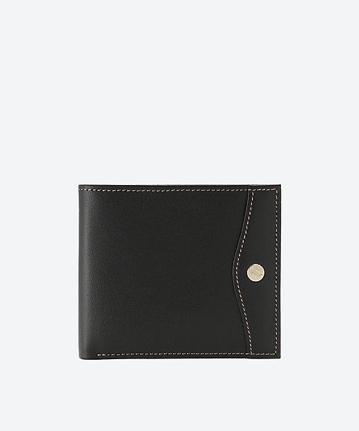 <GOLD PFEIL(Men)/ゴールドファイル> オックスフォード 二つ折り財布(GP10518) ブラック【三越伊勢丹/公式】