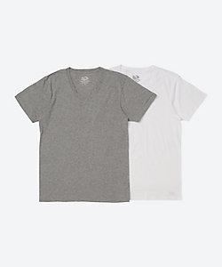 FRUIT OF THE LOOM(Men)/フルーツ オブ ザ ルーム 2枚セット 半袖VネックTシャツ