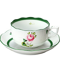 Herend/ヘレンド ウィーンの薔薇 ティーカップ&ソーサー