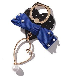 LANVIN en Bleu(Bag&SLG)/ランバンオンブルー スマホリング(リボン/ハート)