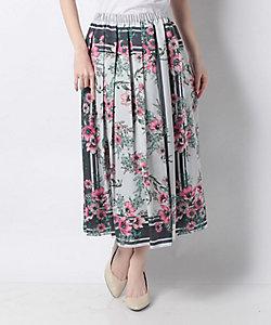VICE VERSA(Women)/バイスバーサ 【セットアップ対応】フラワーパネルプリント フレアスカート