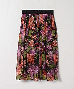 LANVIN COLLECTION(Women)/ランバンコレクション ライラックプリントスカート