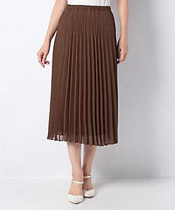 LAPINE BLEUE(Women)/ラピーヌブルー 【洗える】ポリエステルシフォン プリーツスカート