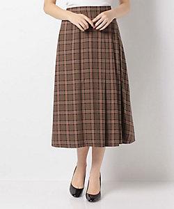 LAPINE BLEUE(Women)/ラピーヌブルー 【洗える】【セットアップ対応】アーバンチェック サイドタックアシンメトリースカート