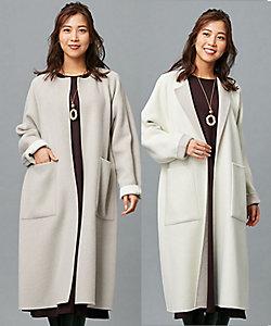 Leilian(Women)/レリアン 【my perfect wardrobe】配色リバーシブルロングコート