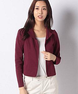 MISS J(Women)/ミスジェイ 【セットアップ対応】AMOSSA テーラードカラーニットジャケット