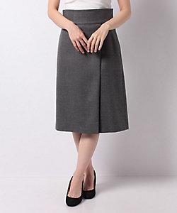 MADAM JOCONDE(Women)/マダム ジョコンダ サキソニーストレッチ ラップ風Aラインスカート