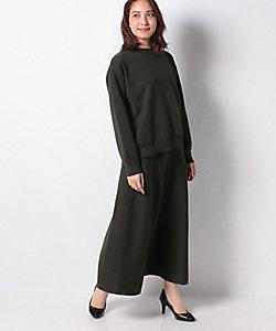 Leilian(Women)/レリアン 【my perfect wardrobe】ハイネックプルオーバー×マキシスカートニットアップ